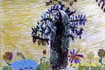"""""""树""""油画棒儿童画"""