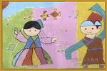 我和哥哥一起跳舞儿童画