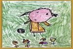 照片油画棒儿童画