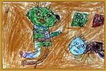 斗争儿童画