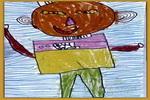 我是男子汉儿童画