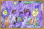 欢度国庆儿童画