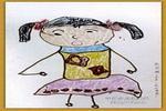 我在唱歌油画棒儿童画