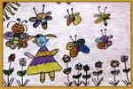 我看蝴蝶跳舞儿童画