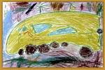 宇宙卫士油画棒儿童画