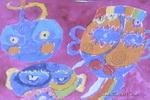 妖怪儿童画2幅