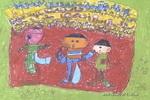 看谁跑的快儿童画2幅
