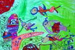 我是花仙子油画棒儿童画