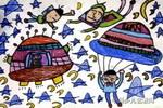 小小宇航员儿童画图片