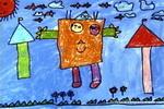 机器超人儿童画作品欣赏