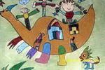 我住在恐龙身上儿童画