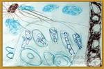 爸爸的大汽车儿童画