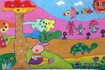 我和妈妈进城儿童画作品欣赏