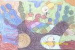 哺育儿童画2幅