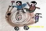 蜗牛车儿童画