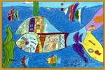 神奇捕鱼机儿童画