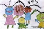 过生日真开心儿童画作品欣赏