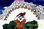 黄鸟伞儿童画
