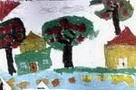 风景儿童画6幅