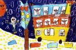 公交车儿童画