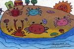 沙滩油画棒儿童画