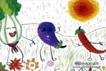 阳光哺育我们成长儿童画作品欣赏