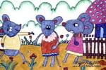 三只老鼠儿童画作品欣赏