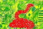 千禧蛇儿童画作品欣赏