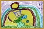 彩虹猫儿童画