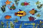 漫游海底世界油画棒儿童画