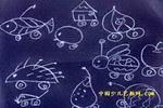 奇怪的小车儿童画