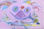 鸭小姐唱歌儿童画