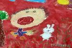 小兔快来吃草儿童画作品欣赏