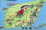 树叶船儿童画作品欣赏