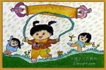 儿童画/锻练身体儿童画