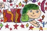 天使儿童画2幅