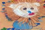 爱美的大狮子油画棒儿童画