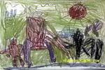 激战油画棒儿童画