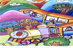 旅游乐儿童画作品欣赏