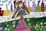 城堡里的公主儿童画