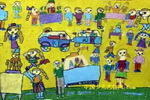 热闹的夜市儿童画