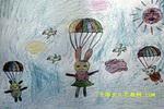 快乐的飞儿童画