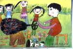 爆米花儿童画3幅