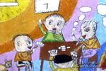 打麻将儿童画作品欣赏