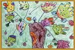 团结树儿童画2幅