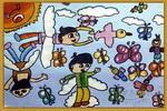 我飞起来了儿童画6幅