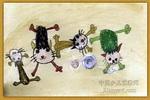 淘气的小猫儿童画2幅