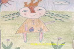 姐姐真漂亮儿童画