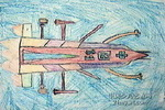 未来的火箭儿童画作品欣赏