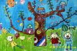 大树真神奇儿童画